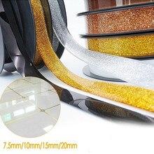 Bande adhésive auto-adhésive à bords latéraux   Carrelage en céramique ruban à fentes résistant aux taches de moisissure, autocollants