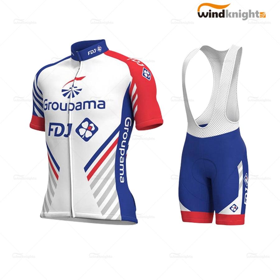 Ropa de ciclismo FDJ Pro equipo ropa de manga corta de hombre bicicleta traje MTB Racing ropa de verano transpirable de secado rápido desgaste