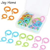 30pcs knitting crochet markers rings small large stitch marker ring with plastic box diy quilting sewing accessories crafts