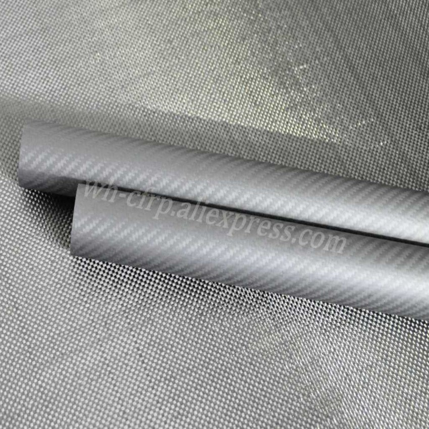 3k Carbon Fiber Tube OD 10mm 11mm 12mm 13mm 14mm 15mm 16mm 17mm 18mm 19mm 20mm  X 1000MM with 100% full carbon, Roll Wrapped enlarge