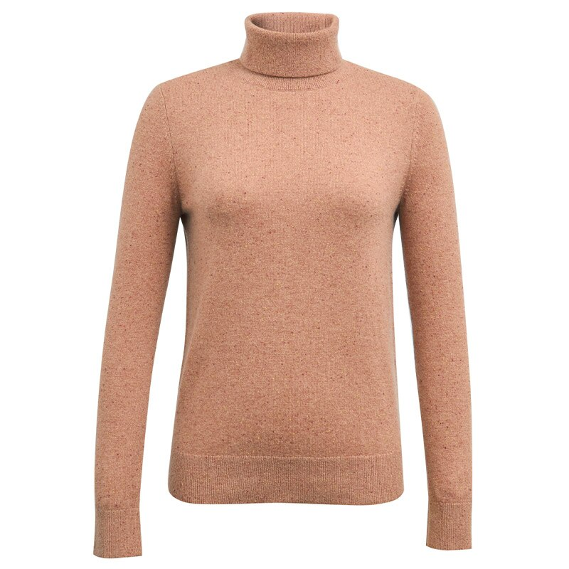 Tailor Shop Custom Made All Cashmere Pure Cashmere Sweater Women High Neck Pullover Sweater Bottoming Shirt enlarge