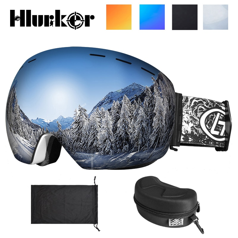 Ski Goggles UV400 Protection Snowboard Eyewear Anti-fog Big Ski Mask Glasses Snow Snowmobile Man Women Skiing Outdoor Sport
