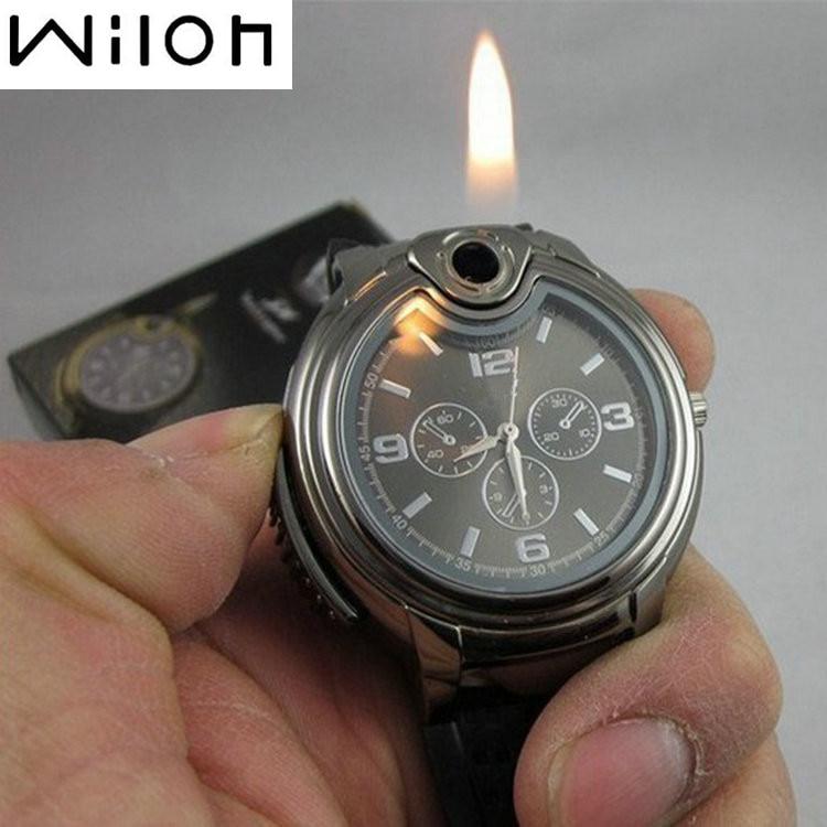 Men's Watches Military Lighter Watch Novelty Quartz Sports Refillable Gas Cigarette Cigar Luxury Bra