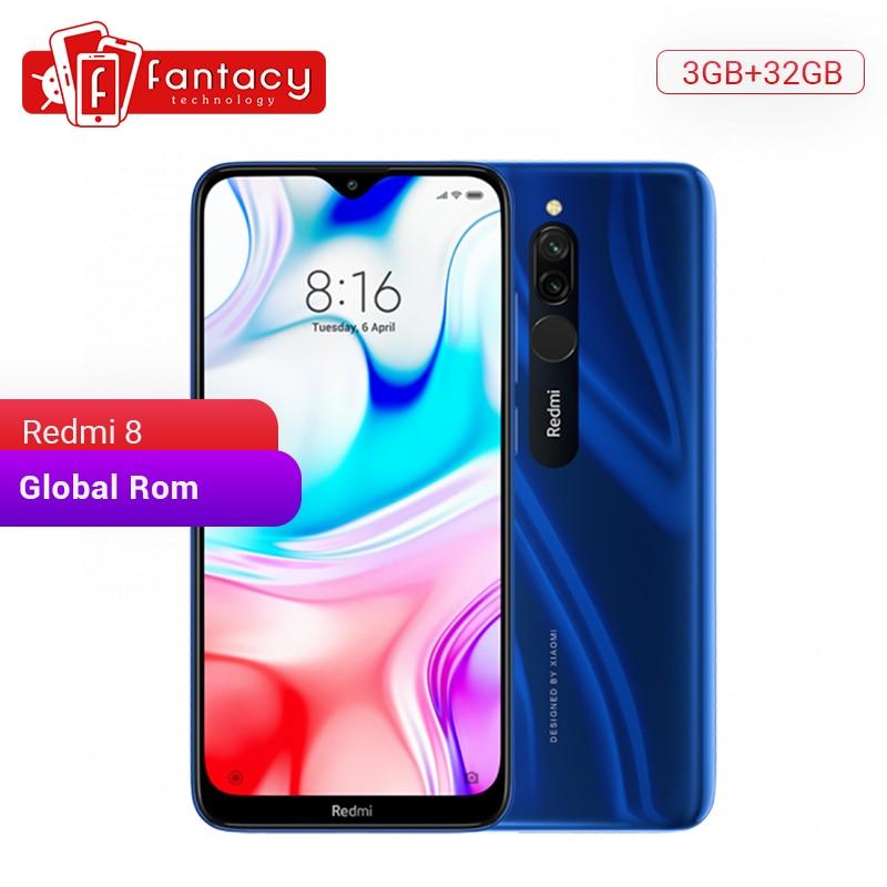 Global Rom Xiaomi Redmi 8 3GB 32GB Snapdragon 439 Octa Core téléphone portable 12MP double caméra 5000mAh grande batterie téléphone portable