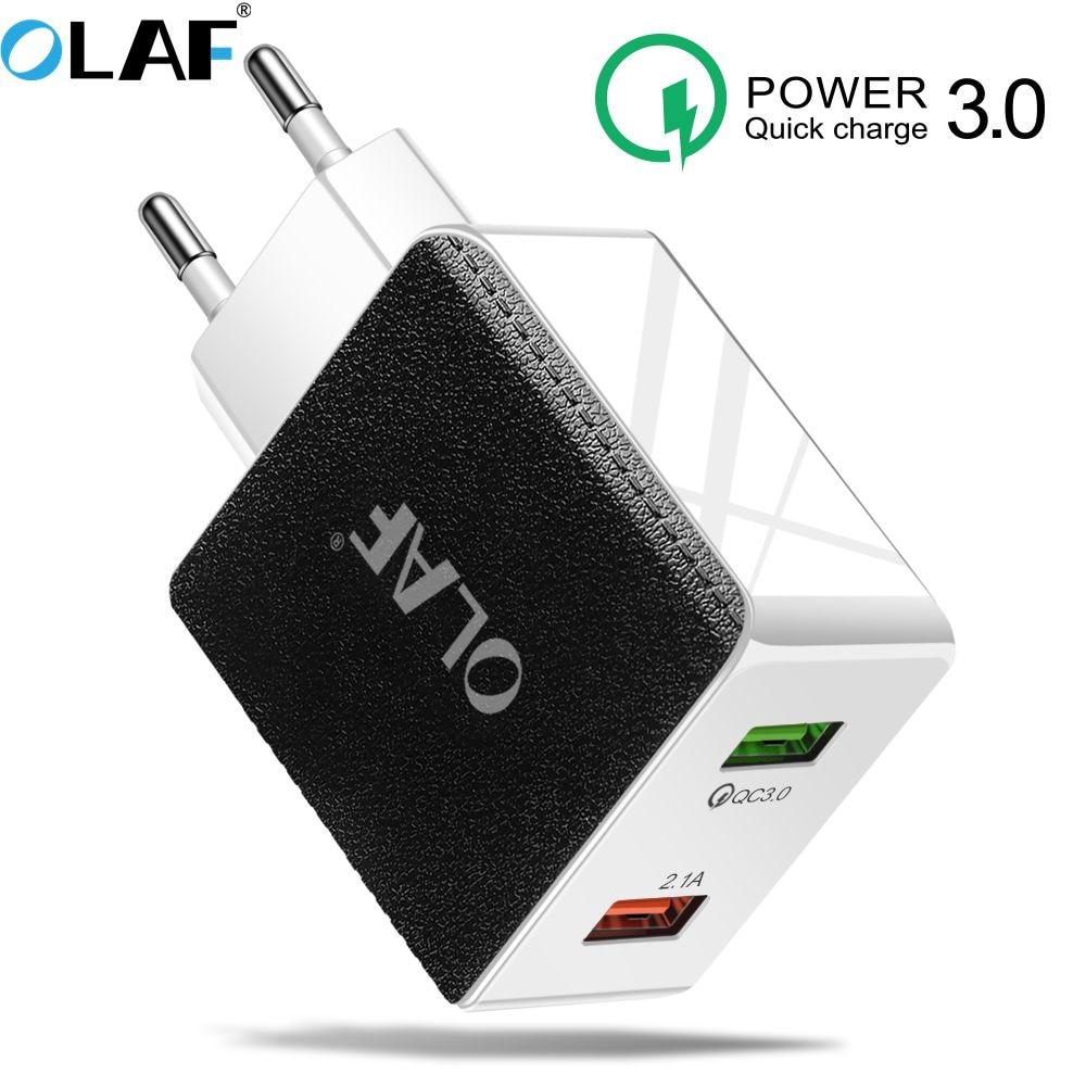 La carga rápida 4,0 USB 3,0 cargador para Redmi Note 7 Pro 48W 5A sobrecargar rápido cargador de teléfono USB para Huawei P30 iPhone X XR