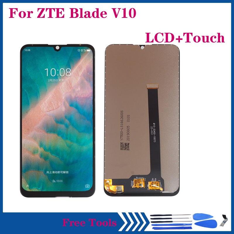 شاشة LCD أصلية لـ ZTE Blade V10, شاشة LCD أصلية لـ ZTE Blade V10 مع مستشعر زجاجي لشاشة تعمل باللمس محول رقمي لإصلاح الهاتف المحمول