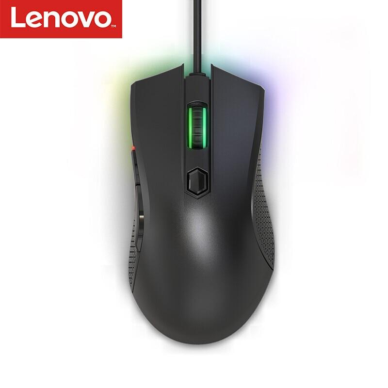 Lenovo-فأرة ألعاب LEGION مزودة بغطاء رأس مريح لليد اليمنى ، Pixart 3327 ، 6200 ديسيبل متوحد الخواص ، RGB لأجهزة الكمبيوتر المحمول ، PUBG/CS:GO/Overwatch/Fortnite