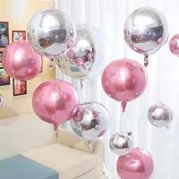 1pcs 32inch gold 4d round aluminum foil balloons helium globals mirror metallic ballons wedding birthday party decors supplies