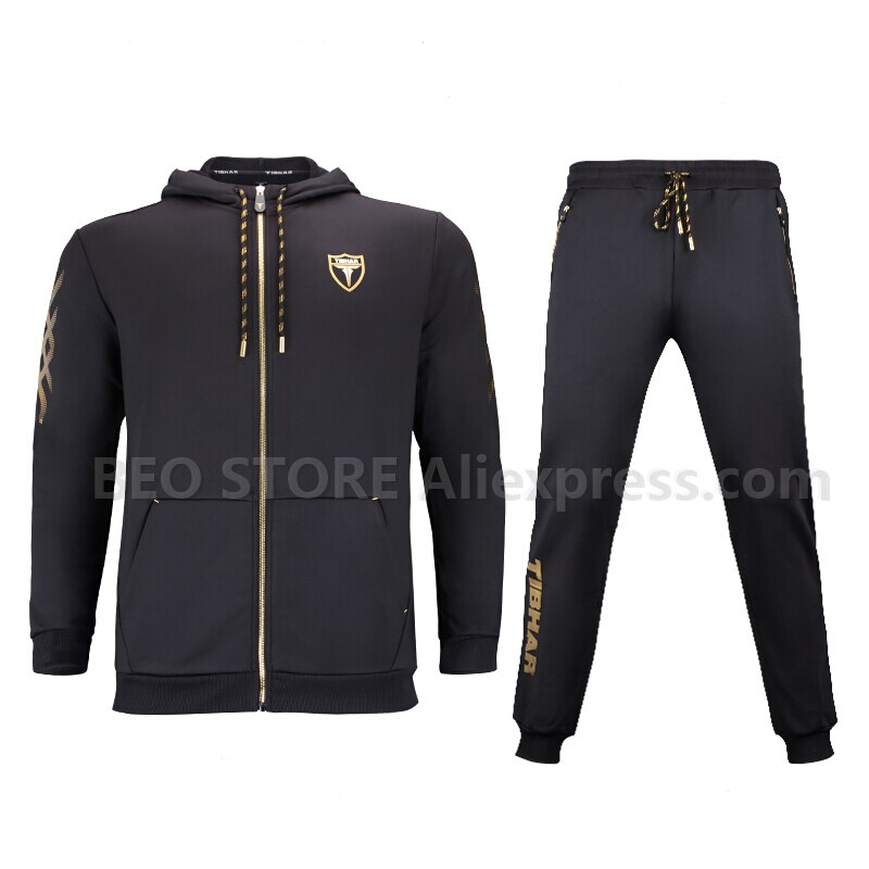 TIBHAR table tennis Sportswear long-sleeved jacket hooded sweater table tennis clothing suit autumn and winter models