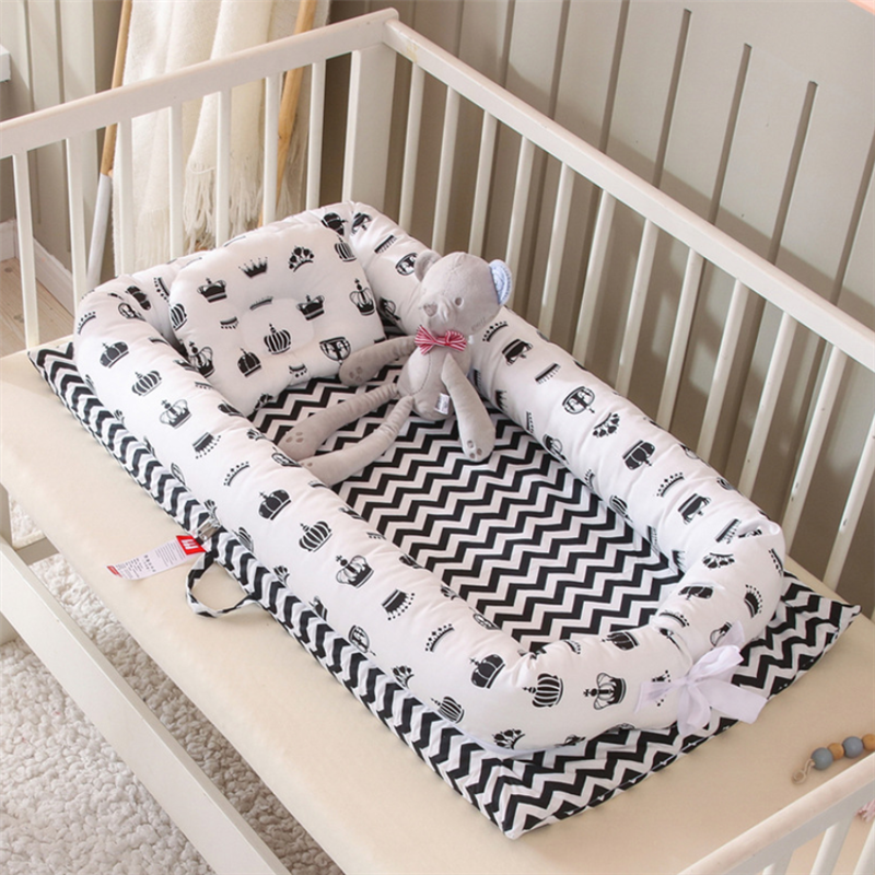 Portable Baby Bionic Bed Cotton Cradle Baby Bassinet Bumper Folding Sleep Nest for Toddler Newborn Play Mat Travel Bed