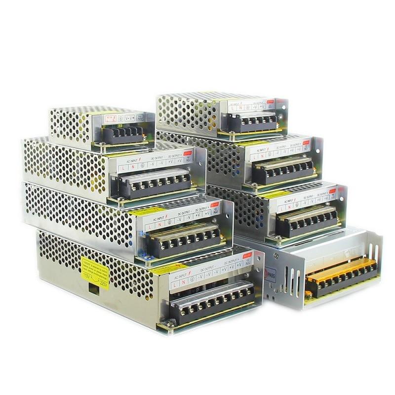 Transformador de iluminación AC110V-220V a CC, adaptador de fuente de alimentación de 5V, 12V, 24V, 36V y 48V, 2A, 5A, 10A, 15A, 20A, 30A, controlador de interruptor de tira LED