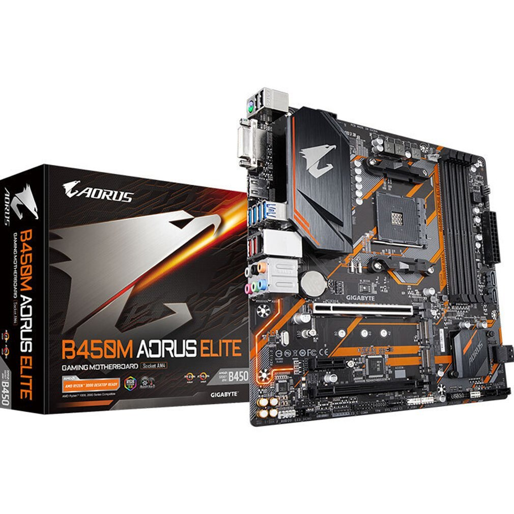 B450M Gaming Motherboard New Small Carving 4 Memory Slots Dual Channel AM4 Durable Motherboard Hybrid Digital Power Supply