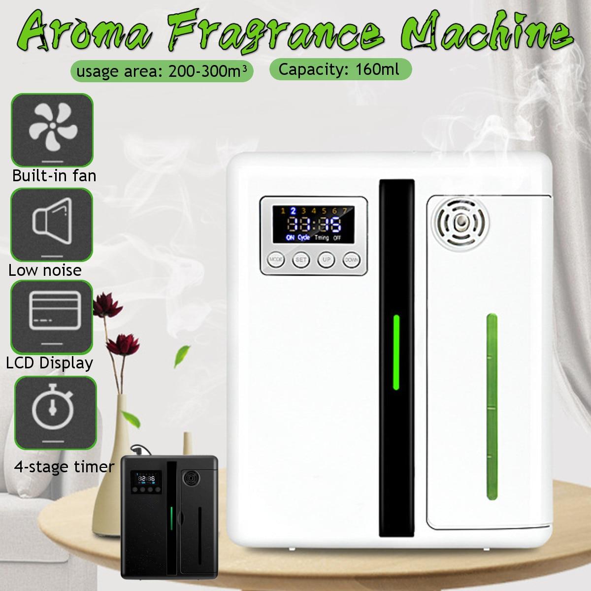 300m³ Lntelligent Aroma Fragrance Machine 160ml Timer Function Scent Unit Essential Oil Aroma Diffu