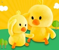 hot selling 25cm adorable toy duck lovely appearance soft skin classic yellow color duck dolls birthday gift