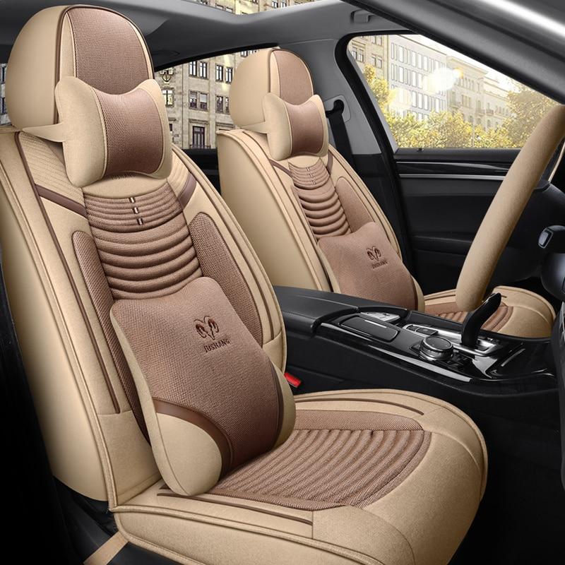 غطاء مقعد السيارة من ألياف الكتان ، تغطية كاملة ، أغطية مقاعد السيارة ، دايو ماتيز ، جينترا ، nexia