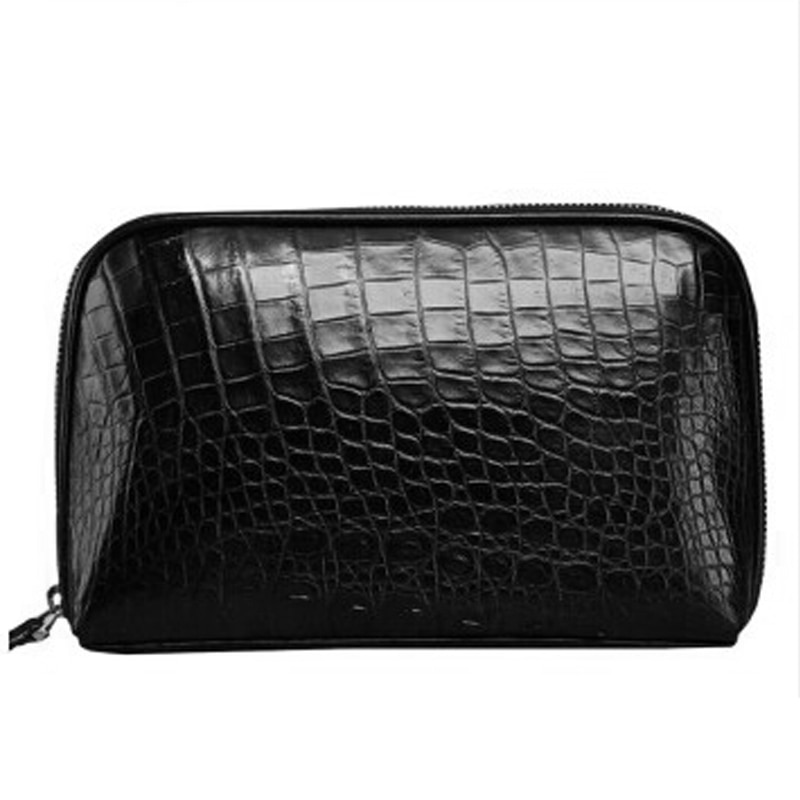 baosidu Man hand bag new business men's wrist bag zipper hand bag Large capacity men clutch bag male crocodile leather bag