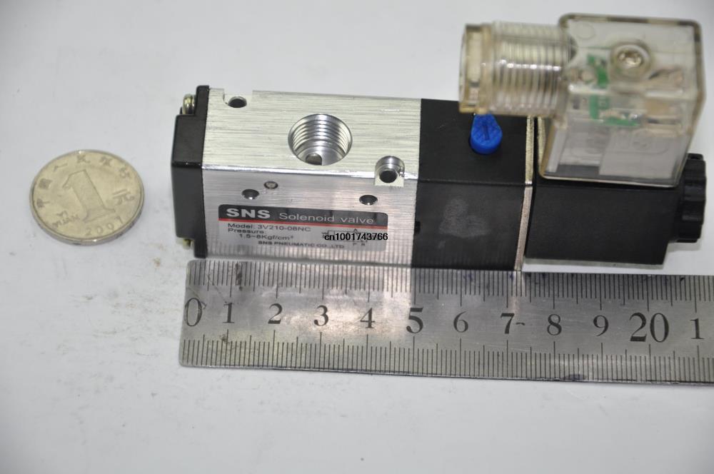 3V210-06 RC1/8 BSPT DC12V DC24V 220V 2 Posición 3 Puerto solenoide Válvula de Control (3V Series) SNS nemático partes válvula de aire 2/3 vías