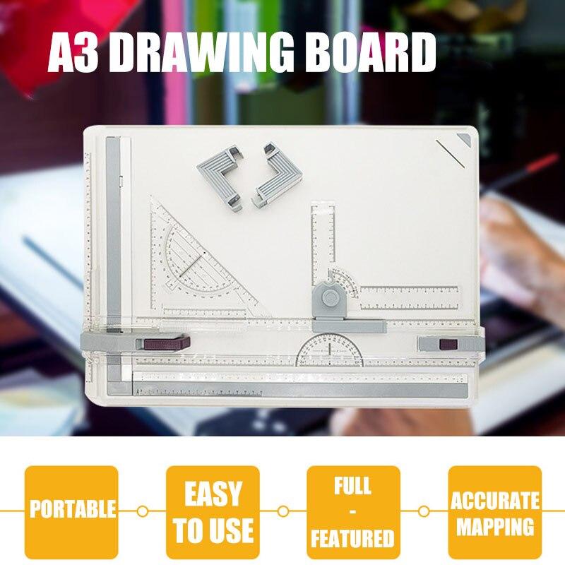 Tabla de dibujo profesional A3 tabla técnica con máquina de cabeza de dibujo FKU66