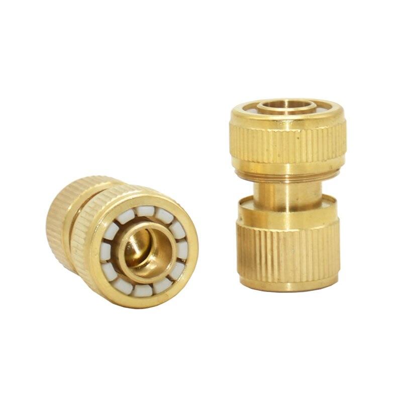 Latón 5/8 manguera de jardín en pulgadas waterstop conector cobre conector rápido adaptador de pistola de agua 1 Uds