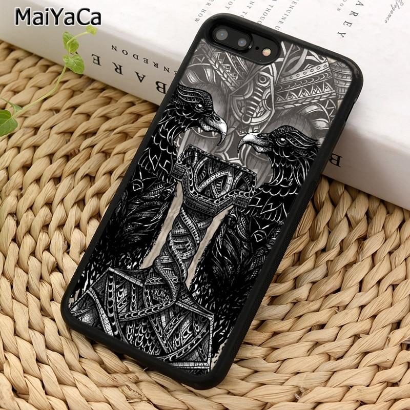 Чехол для телефона MaiYaCa Viking Thors hammer thor thunder god crow для iPhone 5 6 7 8 plus 11 Pro X XR XS Max Samsung S7 S8 S9 S10