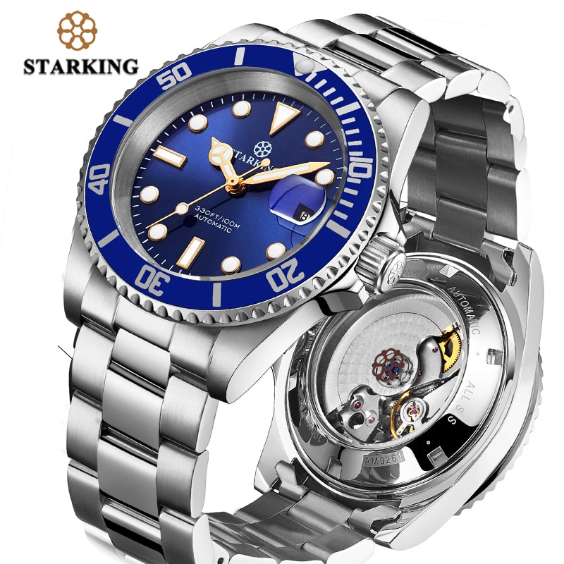 Relojes Starking de lujo para hombre, zafiro impermeable, deportes, automático, reloj Rolexable mecánico, reloj Masculino, reloj Masculino