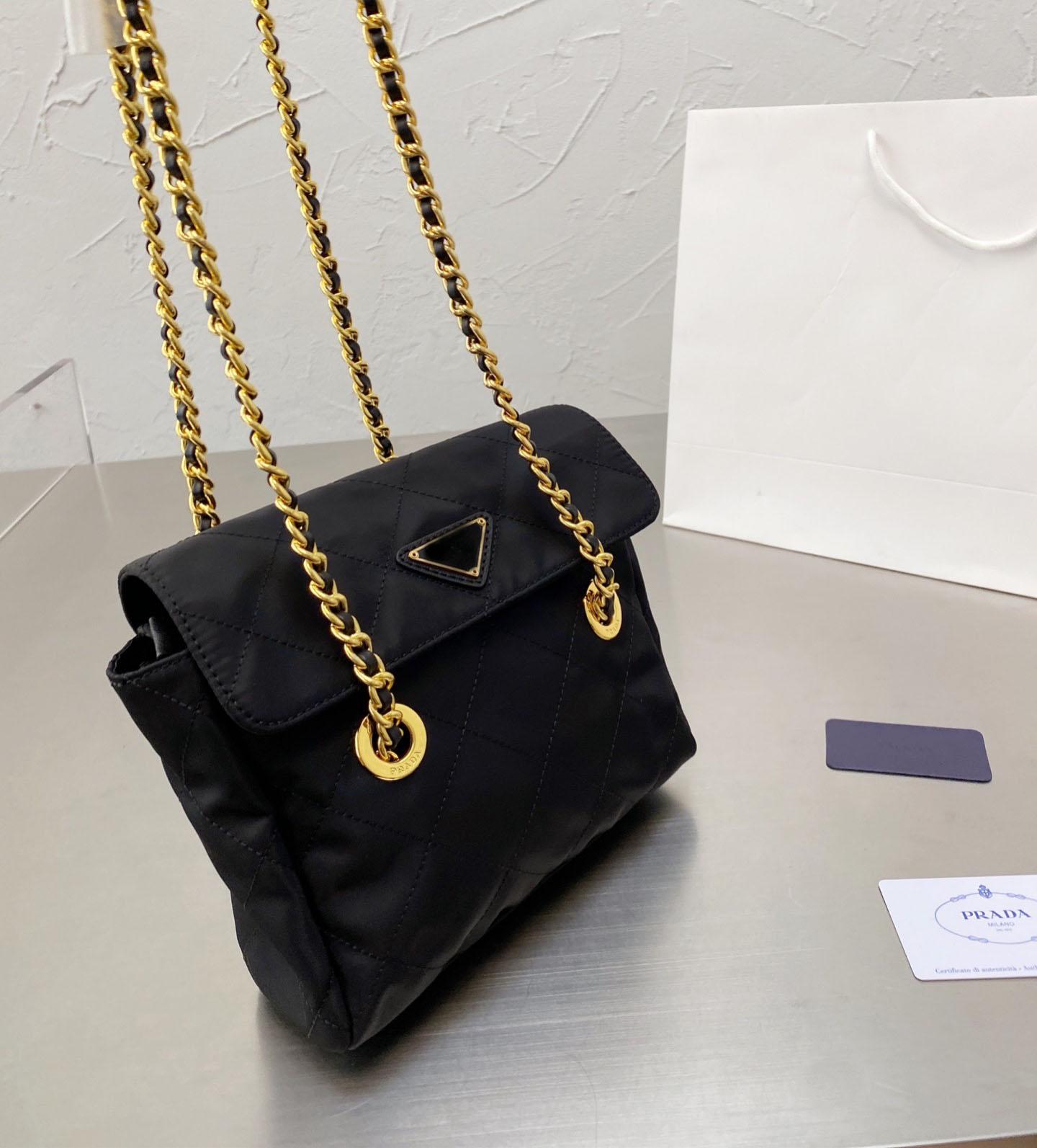 النايلون سلسلة المظلة حقيبة سوداء حقيبة الضالة خفيفة الوزن ومريحة أسود أخضر أصفر