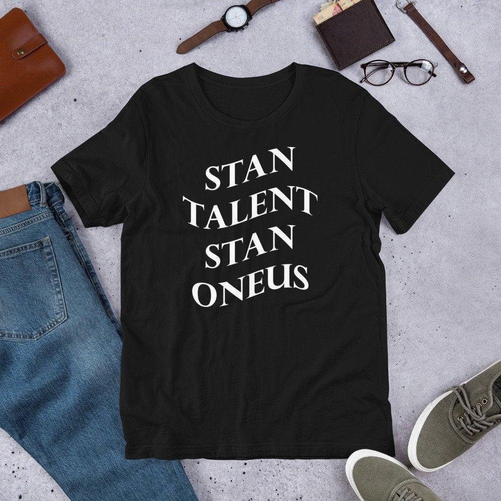 Kpop moda coreana Stan Talent Stan Oneus camiseta mujeres hombres letra impresa Ateez Camiseta de algodón de manga corta Tops de las mujeres