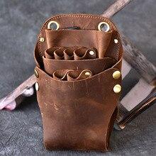Sac à bandoulière en cuir pour hommes   Sac à bandoulière en forme de cheval fou, poils danimaux de beauté, pour la taille, ceinture avec boucle de hanche, sac à épaule