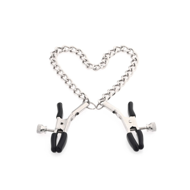 1 pair Stainless Steel Metal Chain Nipple Milk Clips Breast Clip Sex Slaves Nipple Clamps Sex Toys Butterfly Style For Couples breast clamp clips vibrator for women 20 speeds nipple shaking clamps breast clip sex slaves sex toys stimulate sex shop