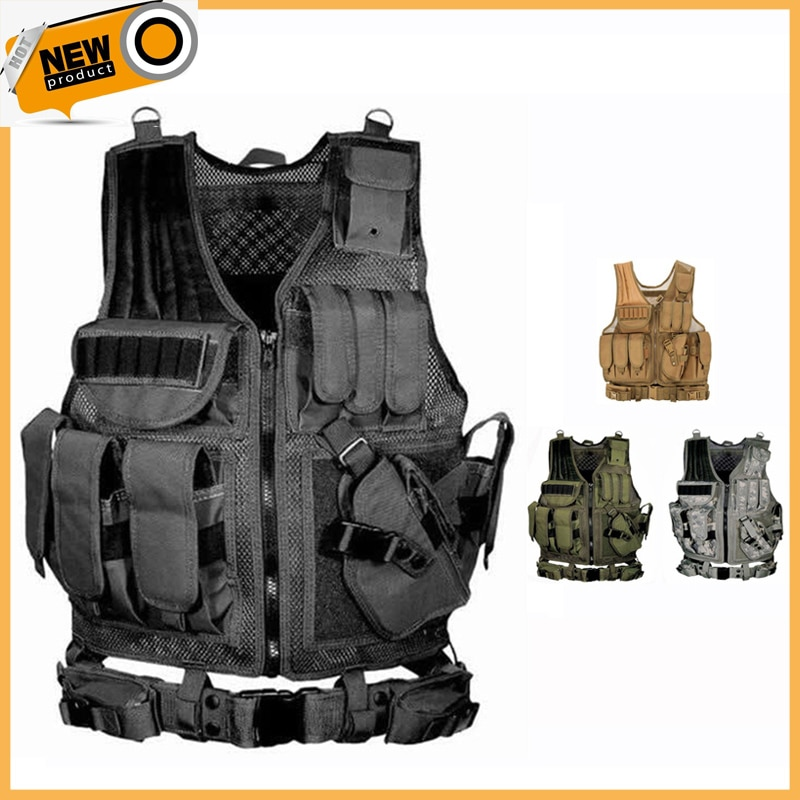 2021 Tactical Equipment Military Molle Vest Hunting Armor Vest Army Gear Airsoft Paintball Combat Protective Vest For CS Wargame недорого