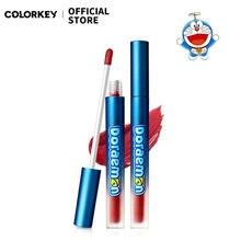 Colorkey Doraemon Cartoon Velvet Lip Glaze Gloss Liquid Lipstick Moisturizing Lip Makeup Waterproof