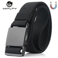 95cm 125cm elastic tactical belt for men anti rust alloy magnetic buckle outdoor sports belt strong nylon unisex stretch belt
