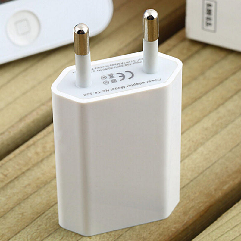 Adaptador de corriente cargador de pared de viaje AC USB Pug UE de alta calidad para iPhone 7 6x8 Plus 5 5S 4 4S 3GS 4G