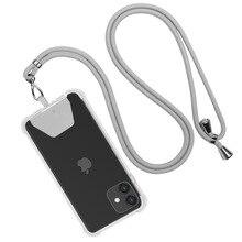 Universal Phone Lanyard Nylon Sports Strap Neck Rope Mobile Phone Strap Adjustable Anti-lost Lanyard