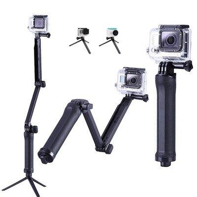 3 way aperto à prova dwaterproof água monopod selfie vara tripé para gopro hero 8 7 6 5 sessão para yi 4k sjcam eken para go pro acessório