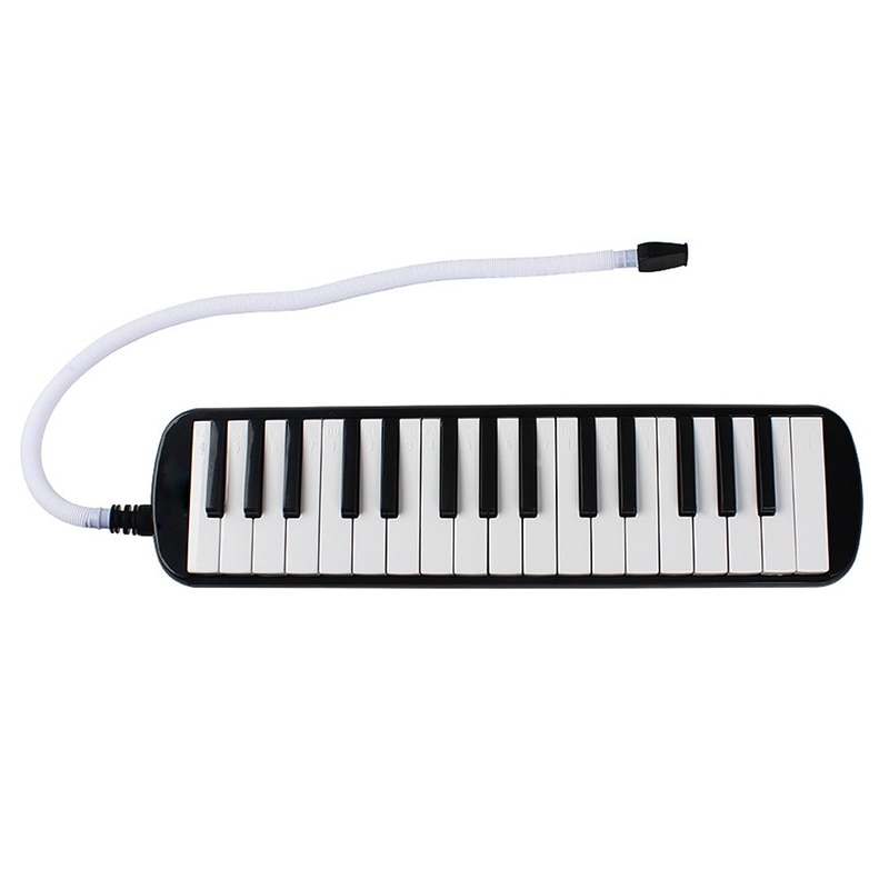 Dropship-1 Set 32 Key Piano Style Melodica with Box Organ Accordion Mouthpiece Blow Keyboard (Black)