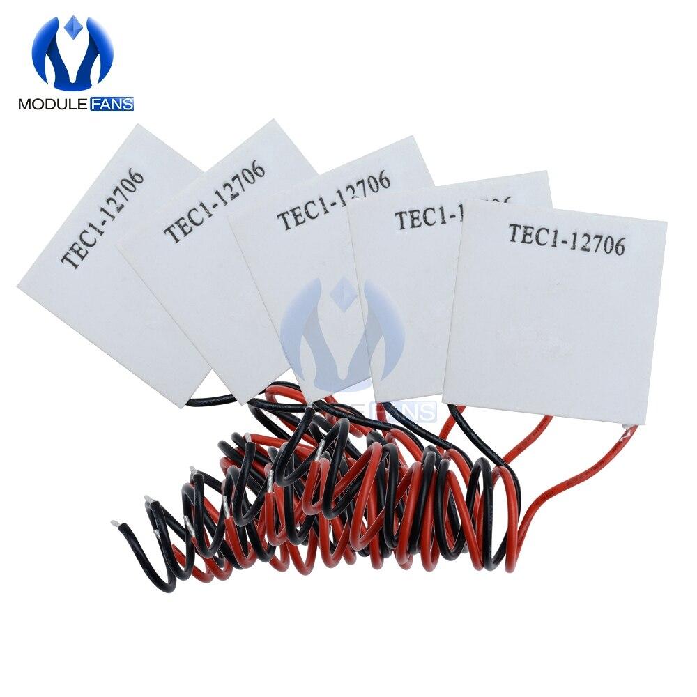 DC 12V TEC1-12706 TEC1-12715 TEC1-12710 TEC1-12705 TEC1-04905 Placa Peltier Termoelétrica Cooler de Resfriamento do Dissipador de Calor Pad