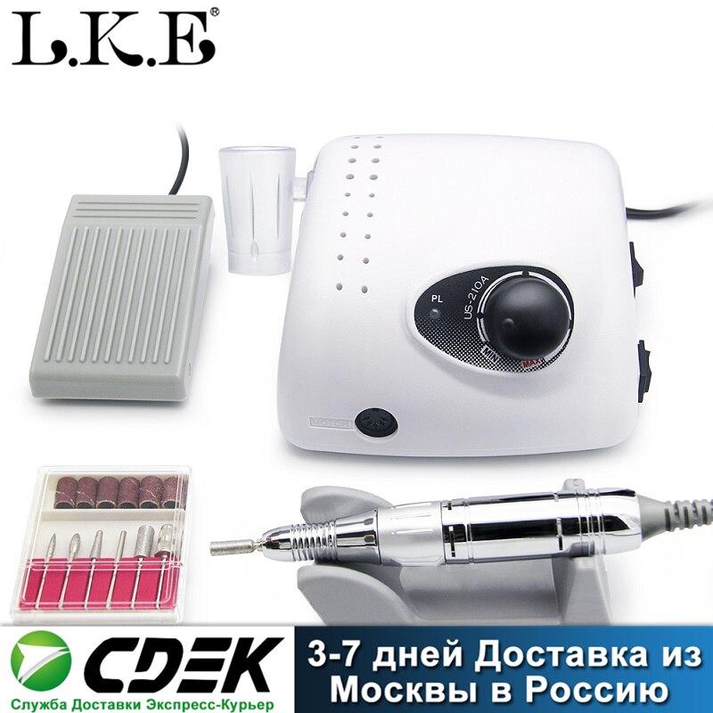Máquina de Broca do Prego Conjuntos para Manicure Elétrica Moinho Cortador Unhas Dicas Manicure Pedicure Arquivo Lke 35000 Rpm