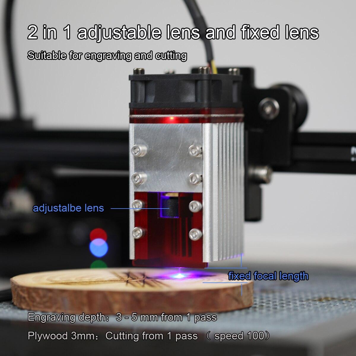 NEJE 80Watt Laser Module Kit 450nm Double beam Laser Head for Laser Engraver Wood Cutting Tool,Set Smarter Blue Laser TTL Module enlarge