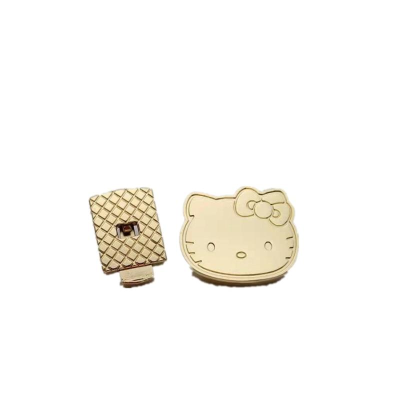 10pcs/lot Fashion New cat Shape Clasp Turn Lock Metal Hardware press locks  For DIY Handbag Shoulder Bag Purse