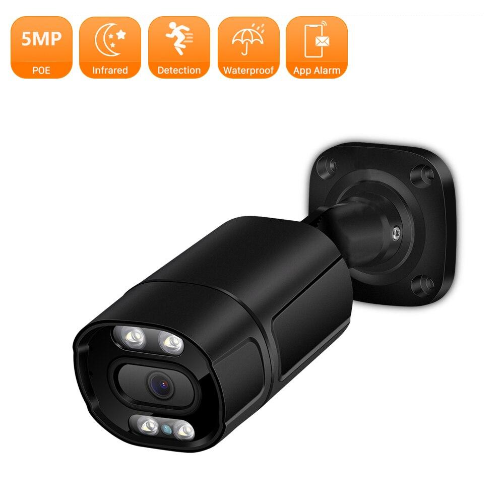 IP-камера видеонаблюдения H.265, 5 Мп, POE, P2P, цветное ночное видение, ИИ-Обнаружение, 3 Мп, 2 Мп, наружная металлическая, встроенный микрофон, камера...