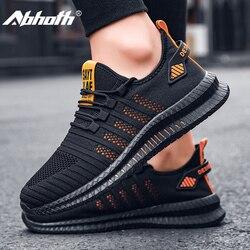 Abhoth luz casual confortável respirável tênis masculino antiderrapante resistente ao desgaste sapatos de caminhada ao ar livre 2020 cesta homme