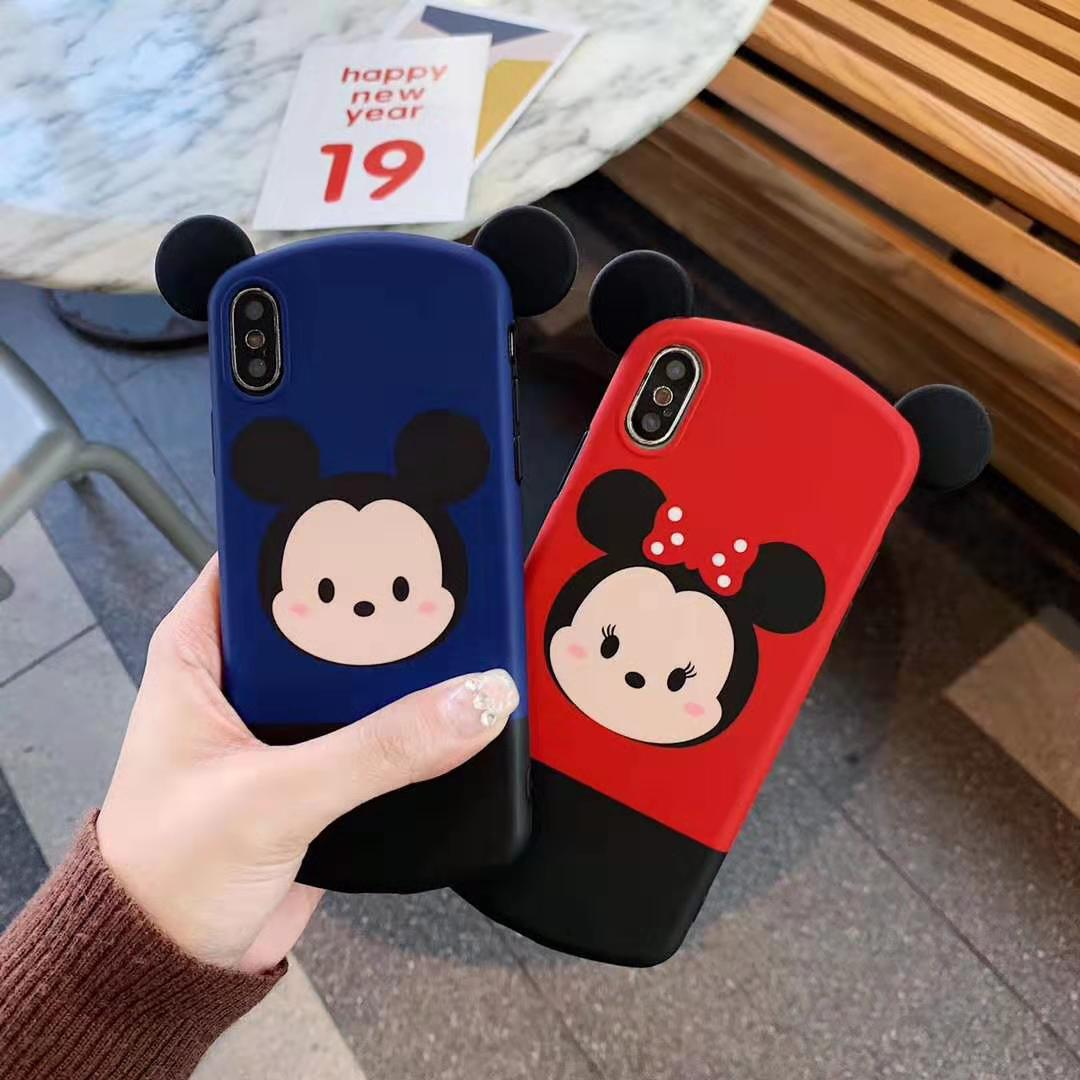 2021 Disney original phone case is suitable for 7/8Plus/X/11 Mickey cute phone cover  - buy with discount