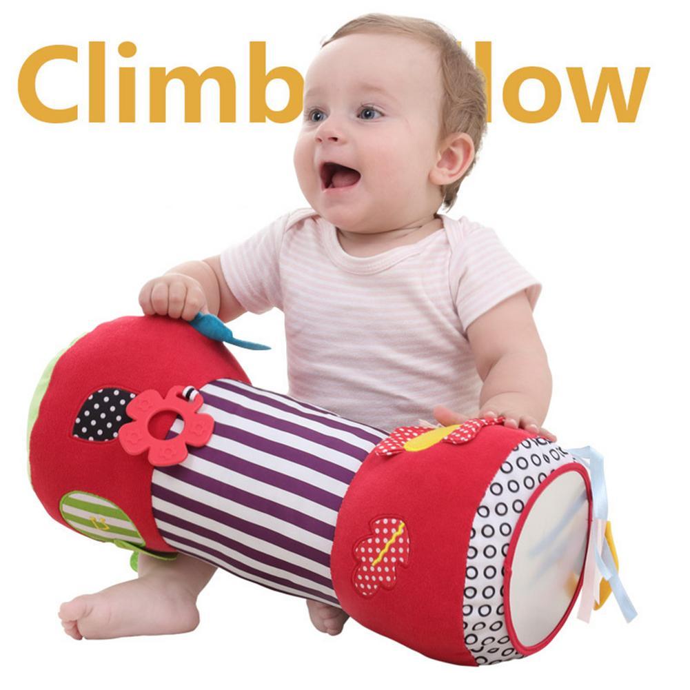 Newborn Baby Multifunction Crawling Roller Toddler Toys Fitness Sport Soft Squishy Stuffed Plush Toys Music Teether Bibi