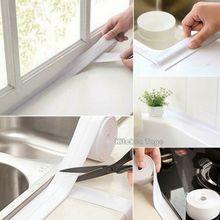 Bande adhésive de scellage de bain tissu   2.2cm * 320cm bande de scellage de bain, bande adhésive pour calfeutrage, autocollant mural imperméable pour la cuisine de la salle de bains