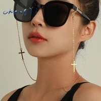 changyi bohemia 2021 trend symmetry cross glasses hanging chains sunglasses women mask chain fashion jewelry nonslip metal chain