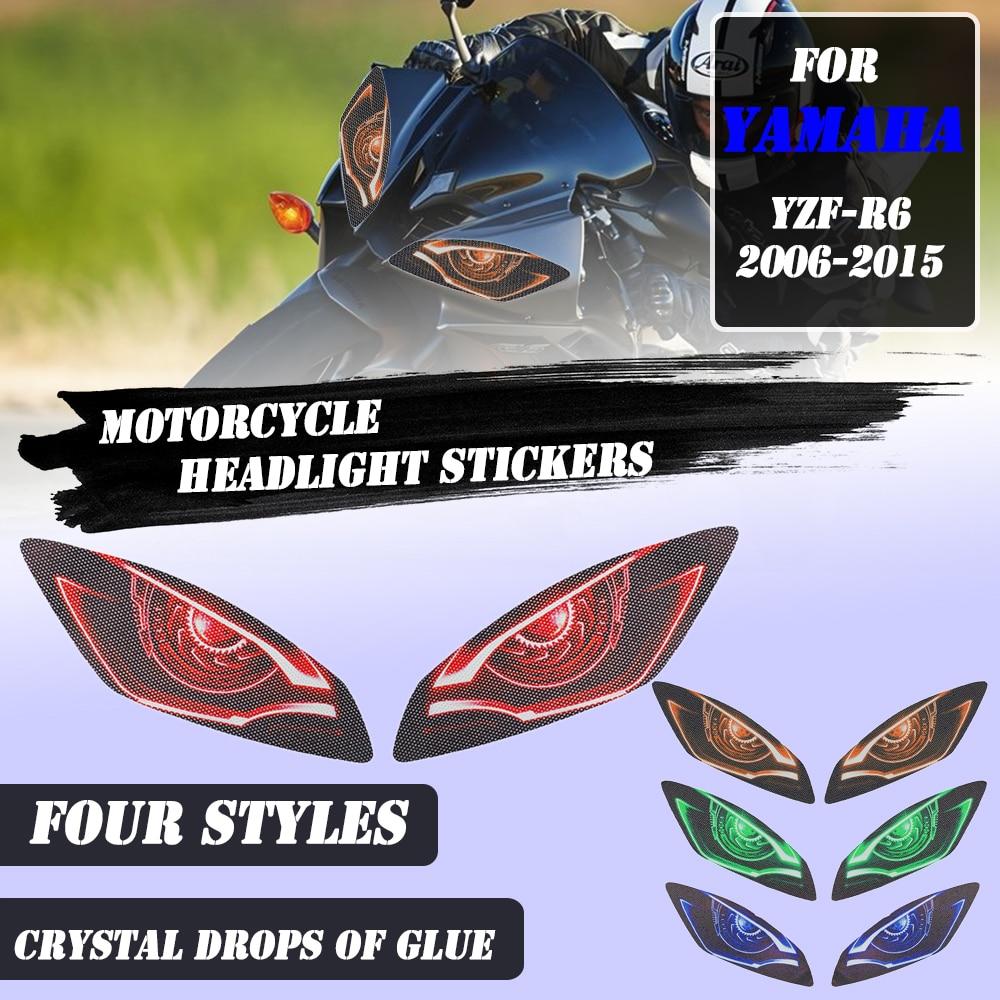 For YAMAHA YZF-R6 YZFR6 YZF R6 2006-2015 Motorcycle Headlight Stickers Guard Head light protection Sticker YAMAHA R 6 r6 yzf-6r