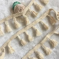 5yards 4 0cm cotton fringe lace quality tassel trimming colorful ribbon garment sewing accessory curtain decorative