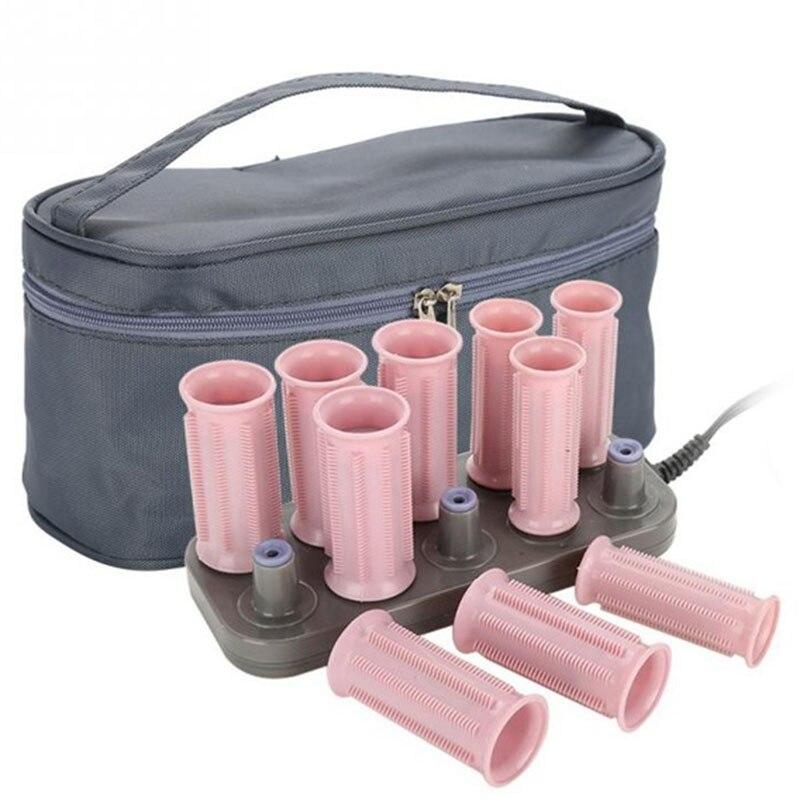 Us Plug 10 unids/set de rodillos de pelo tubo eléctrico de calor de pelo rizado Styling Sticks herramientas de masaje accesorios de rulos-A