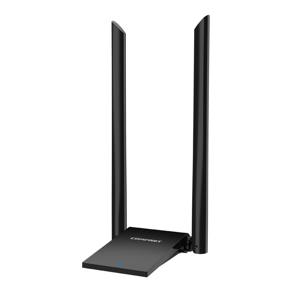 Comfast 1300M/1900 Mbps USB 3,0 adaptador WiFi inalámbrico 2,4 y 5,8 GHz doble banda 802,11/b/n/g/ac 2 * 6dBi Antena de tarjeta de red inalámbrica